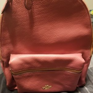 Pink Coach backpack